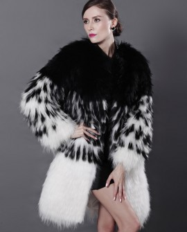 3/4 Length Knitted Fox Fur Coat
