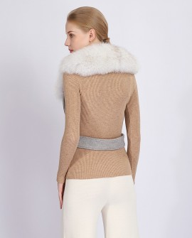 Belted Fox Fur Stole