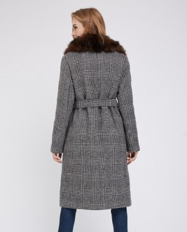 Cashmere Long Coat with Fox Fur Collar