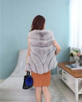 Cropped Fox Fur Vest