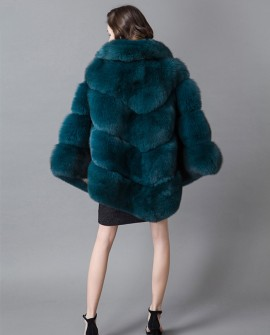 Fox Fur Poncho Coat