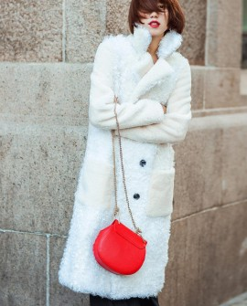Full Length Shearling Sheep Fur Coat