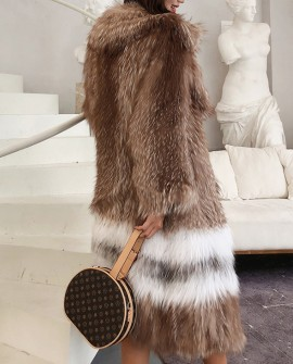 Knitted Fox Fur Coat