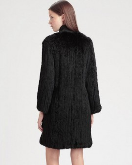 Knitted Rabbit Fur Coat