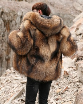 Men's Raccoon Fur Coat