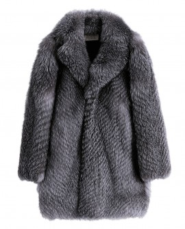Men's Silver Fox Fur Coat