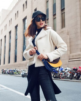 Merino Shearling Sheepskin Cropped Jacket