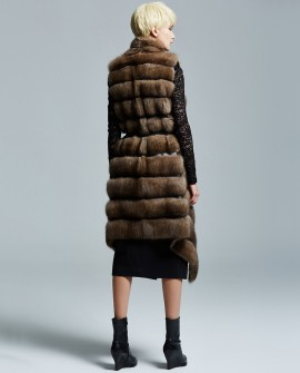 Sable Fur Long Vest