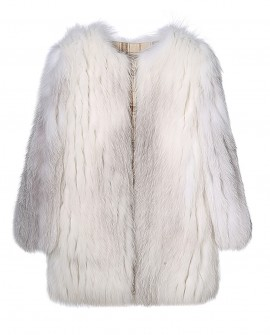 Shadow Blue Frost Fox Fur Coat