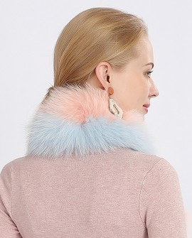 Two-tone Fox Fur Scarf