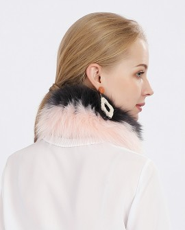 Two-tone Fox Fur Scarf Neckwarmer