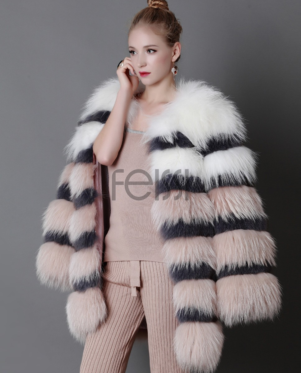 3-4 Length Fox Fur Coat 920a
