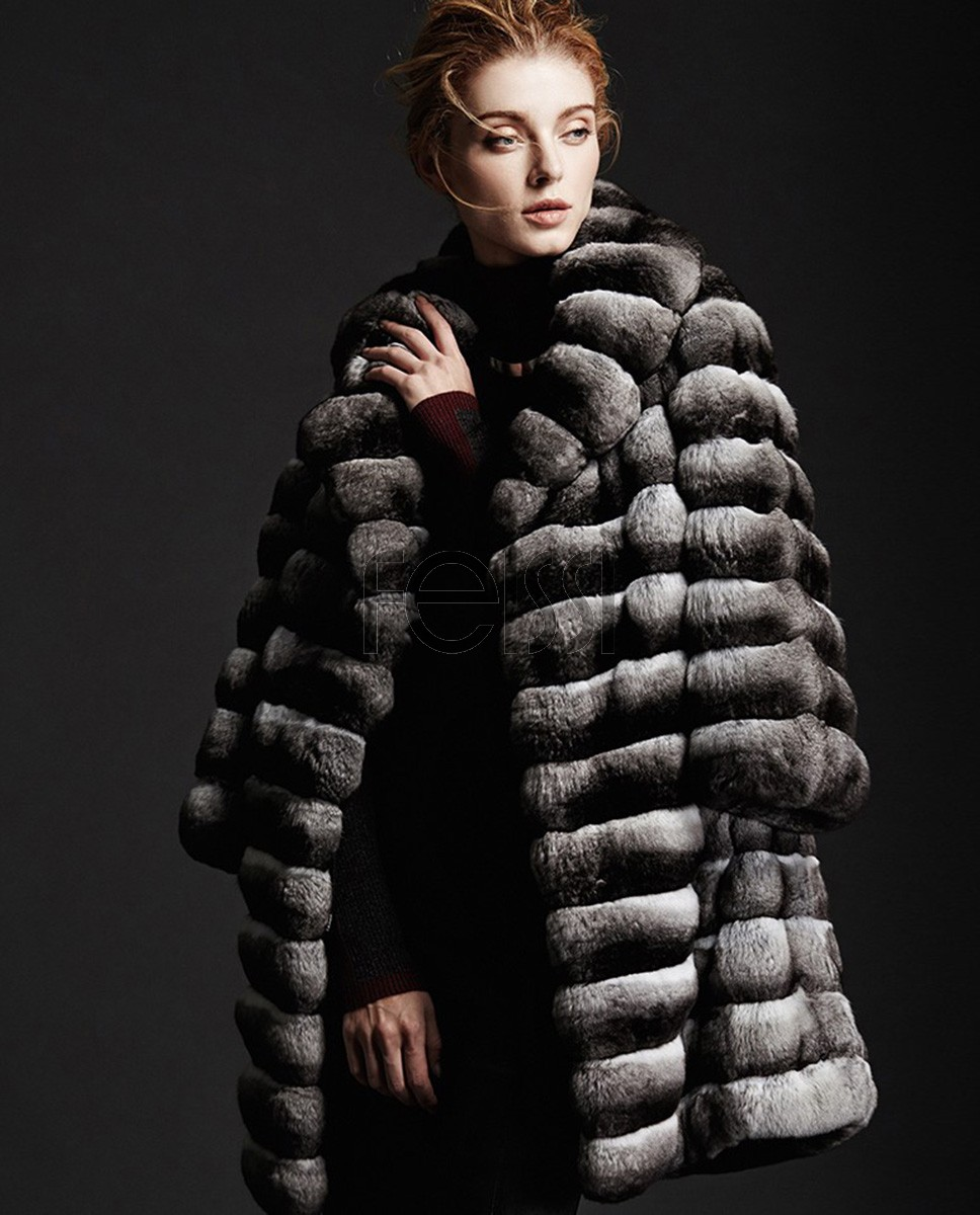 Chinchilla Fur Coat 164a