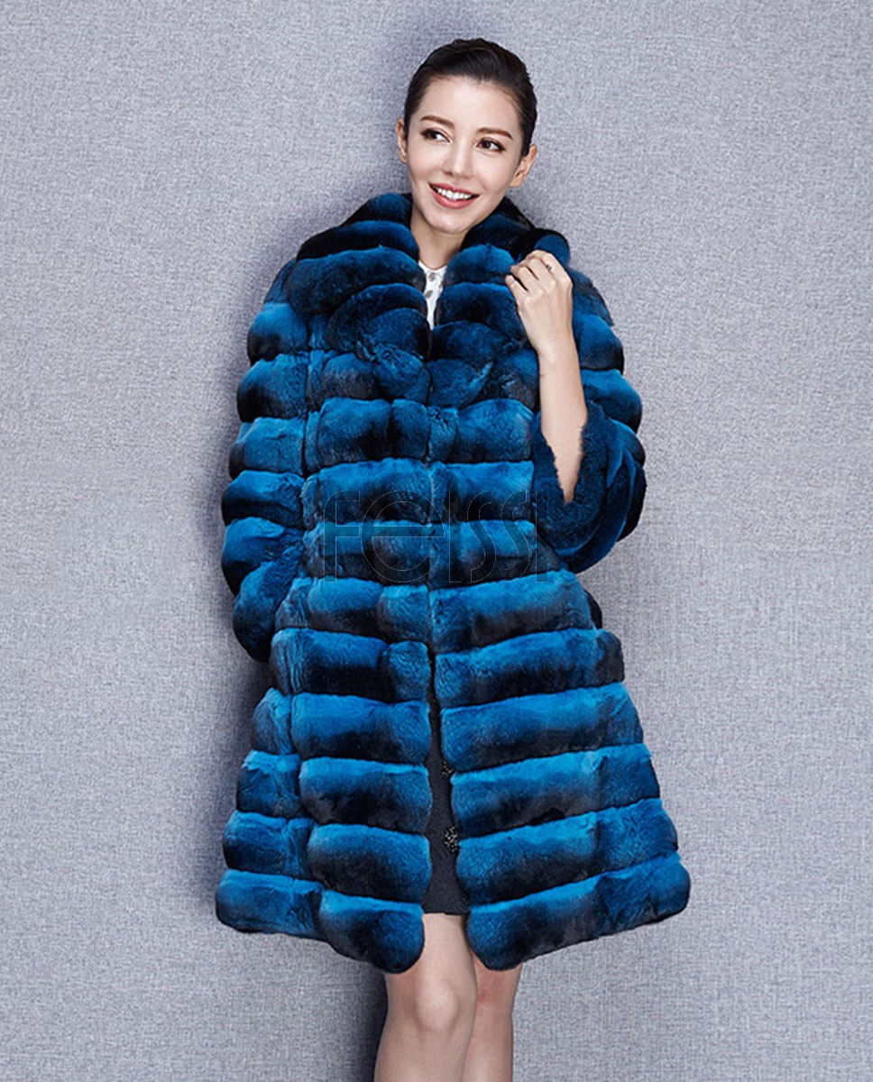Chinchilla Fur Coat 575 Blue 1