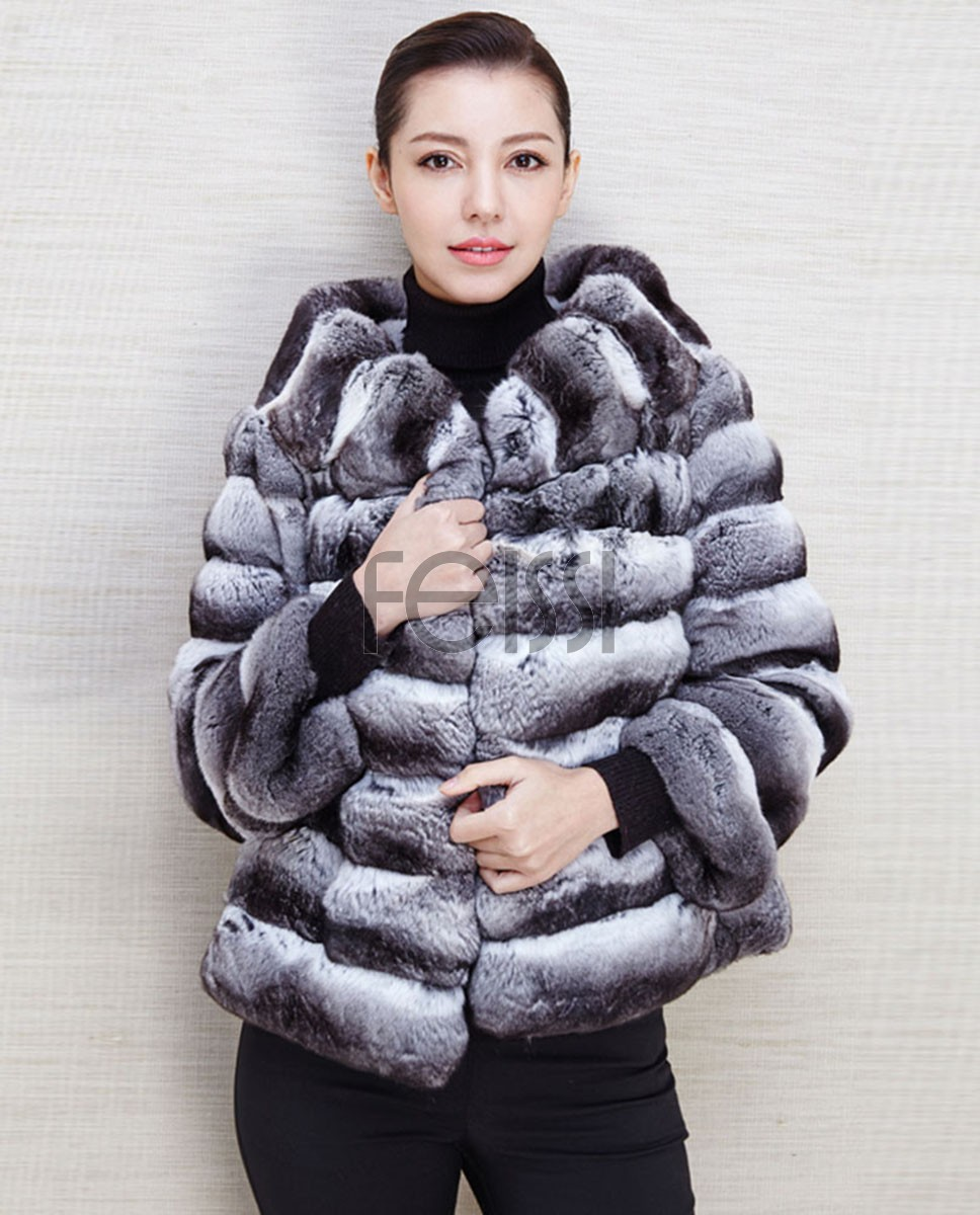 Chinchilla Fur Jacket 560a