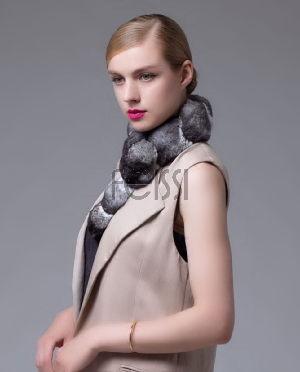 Chinchilla Fur Scarf, Collar 673_1