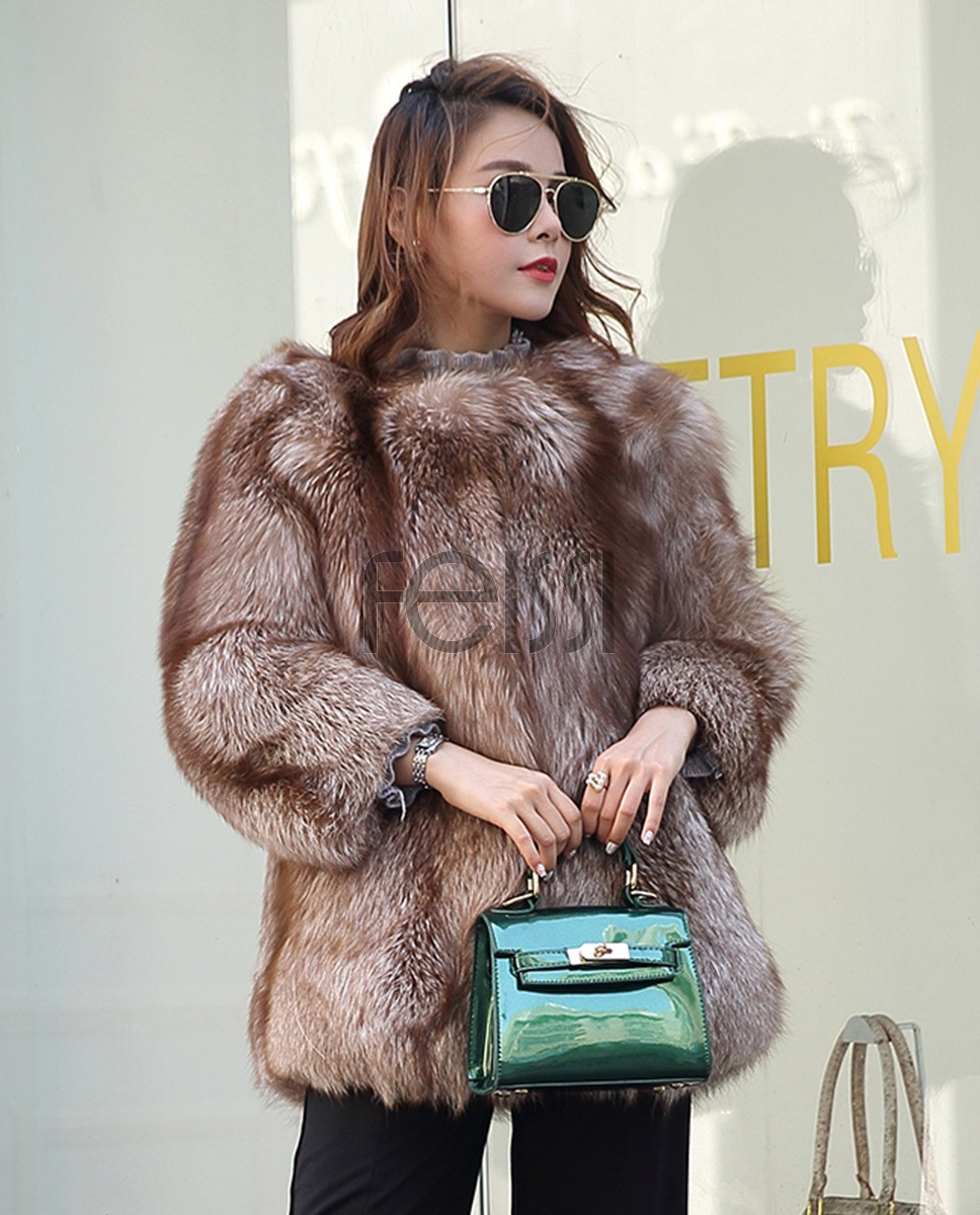 Chocolate Fox Fur Jacket 003a