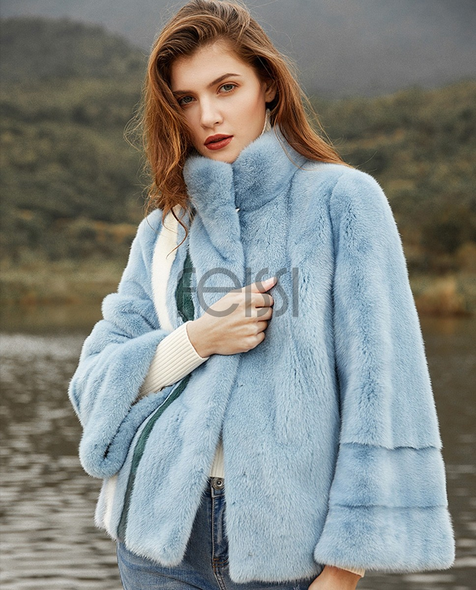 Cropped Mink Fur Jacket 0113a