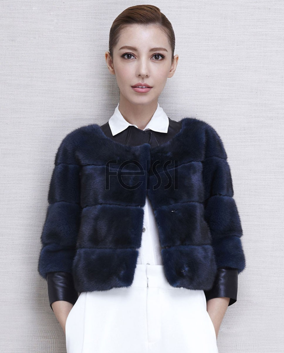 Cropped Mink Fur Jacket 501_1