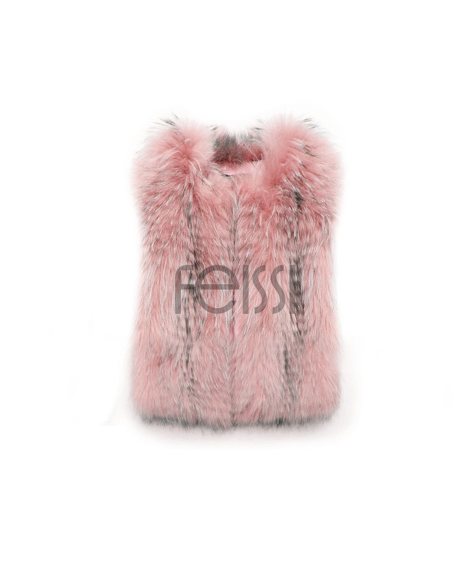Cropped Raccoon Fur Vest 0099d