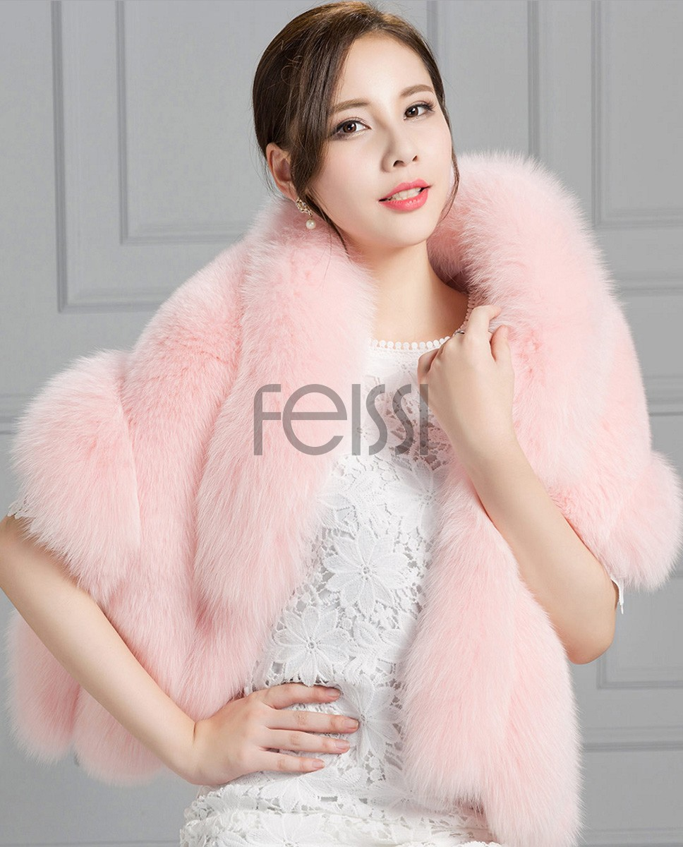 Fox Fur Cape 807 Pink 1