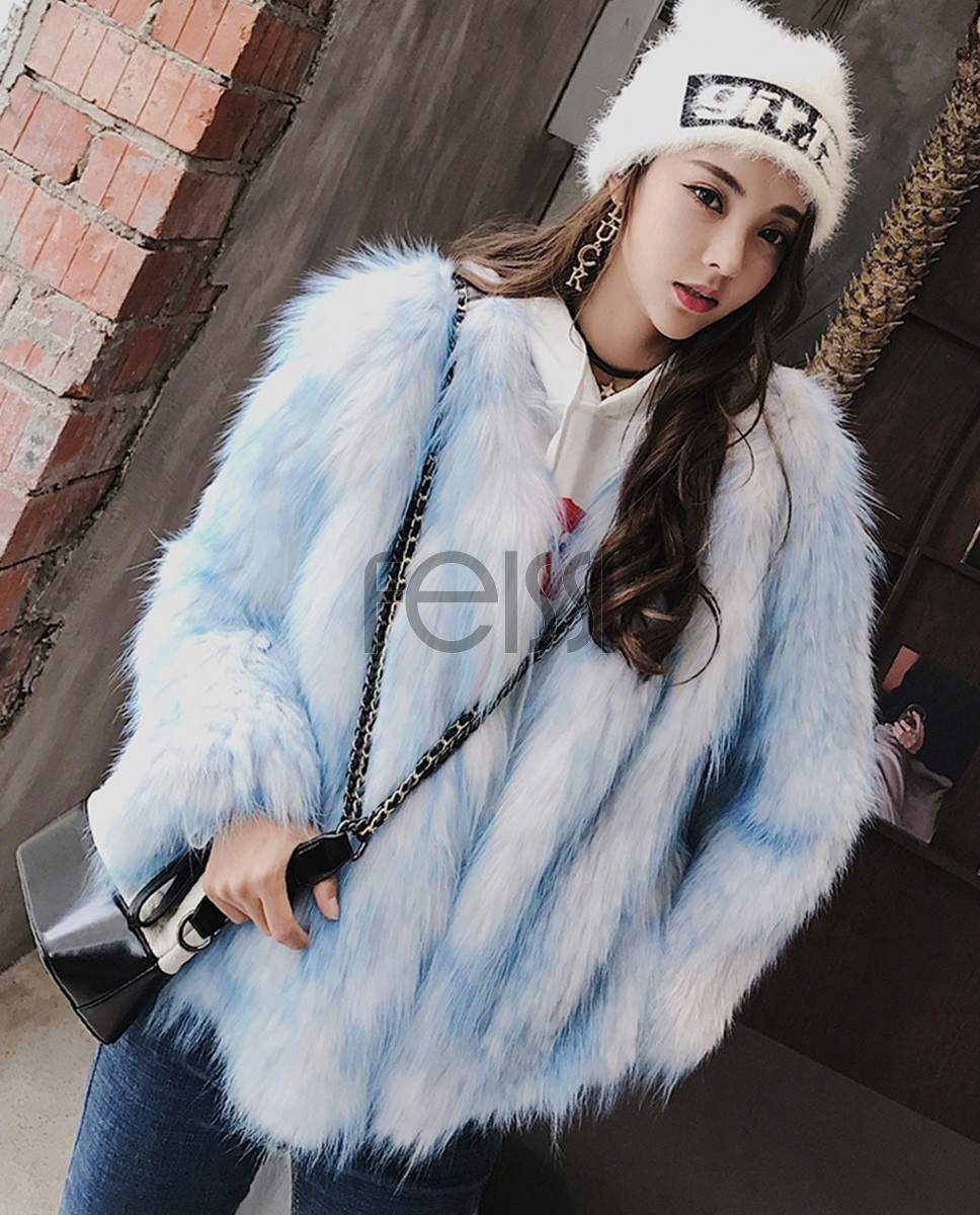 Knitted Fox Fur Jacket 980a