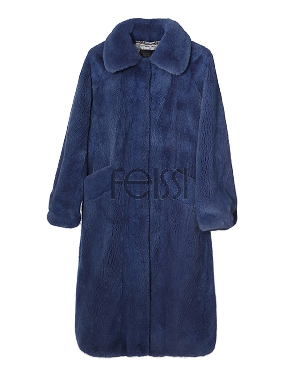 Mink Fur Long Coat 0030a