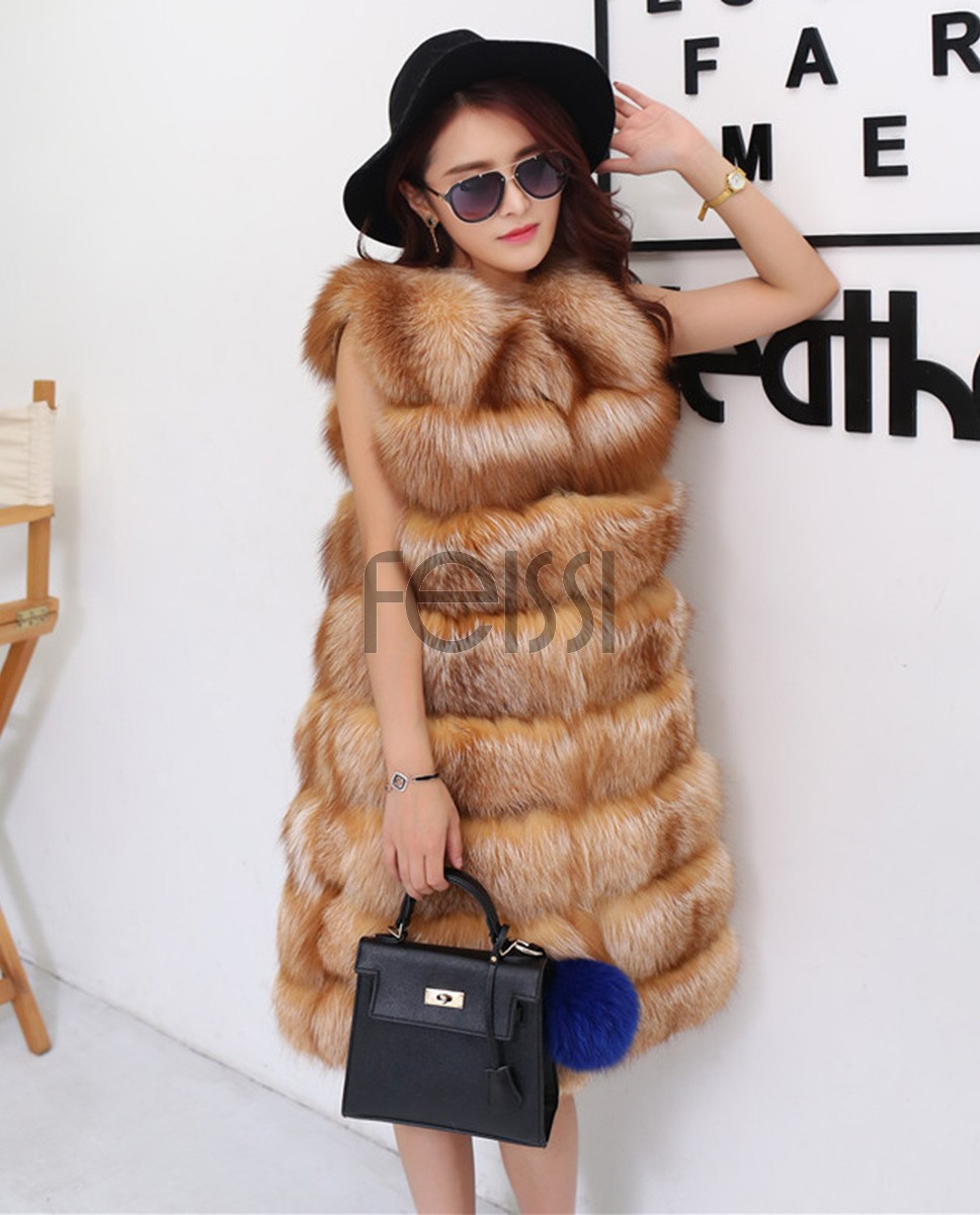 Red Fox Fur Vest 811a