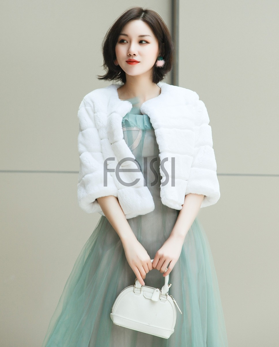 Rex Rabbit Fur Bolero 0104a
