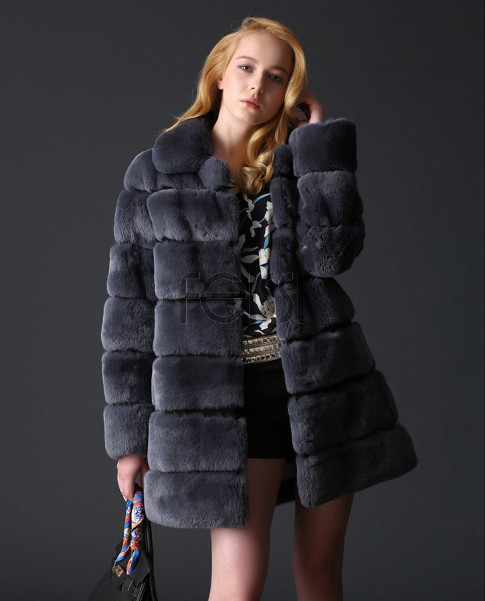 Rex Rabbit Fur Coat 773a