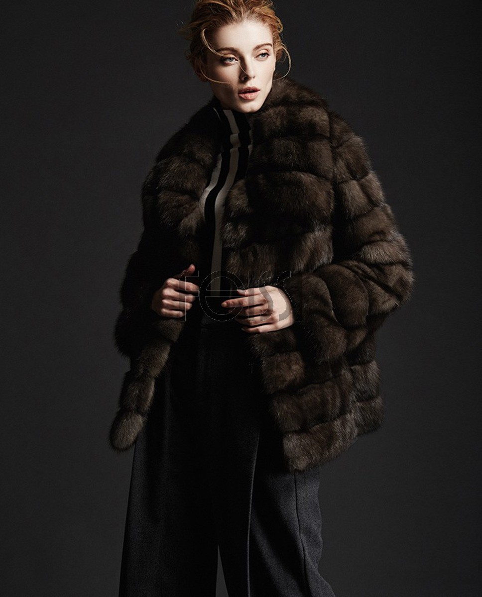 Sable Fur Coat 183a