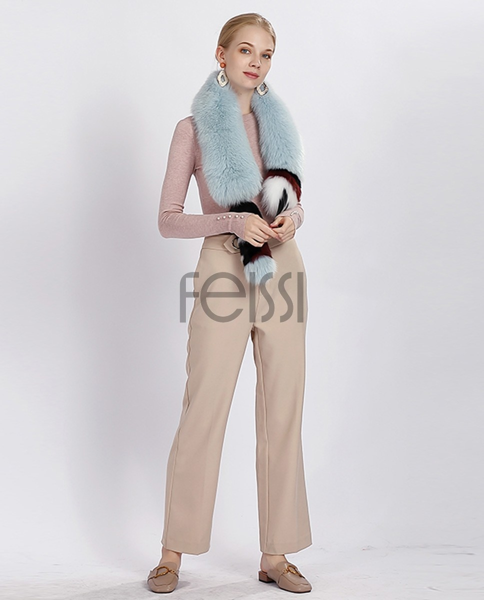 Tailed Fox Fur Scarf 367a