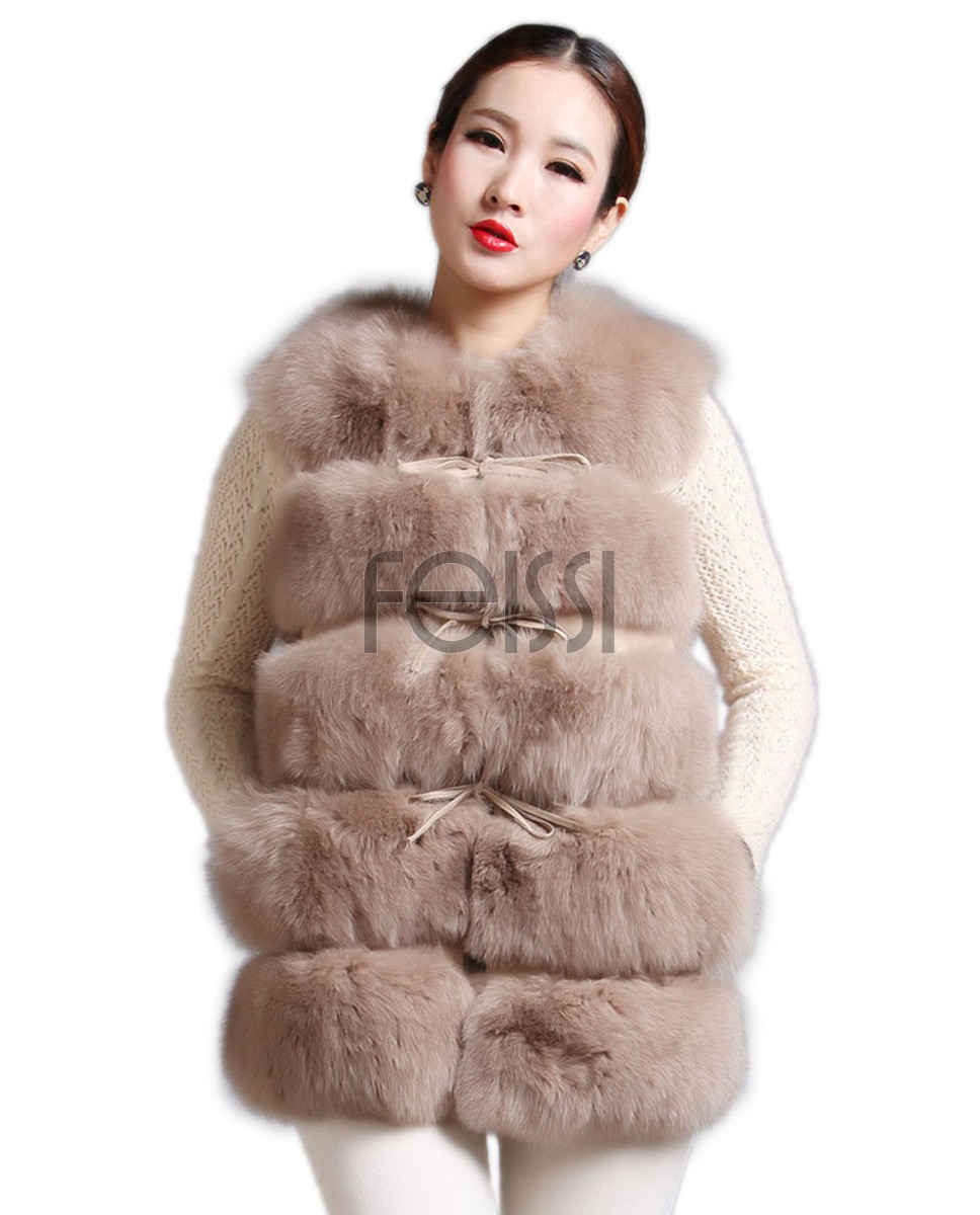 Women's Fox Fur Gilet 591_1