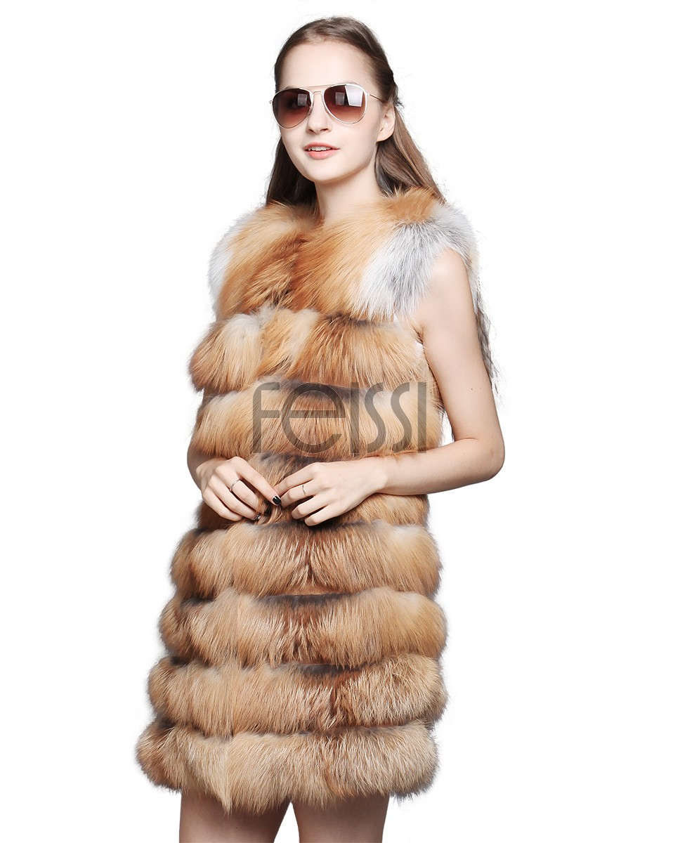 Women's Fox Fur Vest 631_1