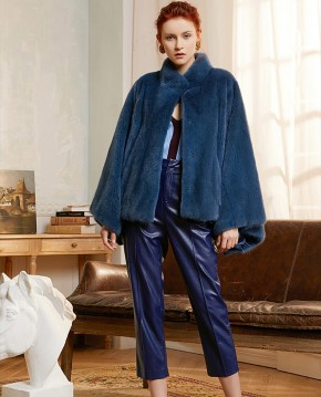 Mink Fur Cape-Shaped Jacket