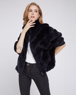 Batwing Rex Rabbit Fur Jacket