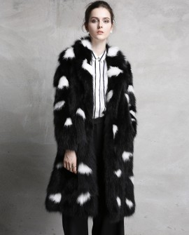 3/4 Length Black Fox Fur Coat