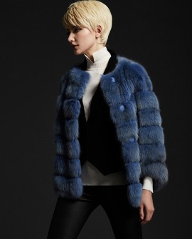 Blue Sable Fur Jacket 186a