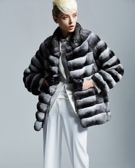 Chinchilla Fur Coat 167a