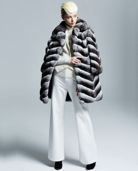 Chinchilla Fur Coat 170a