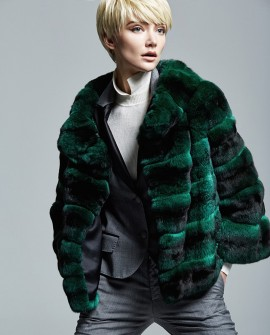 Chinchilla Fur Jacket 159a