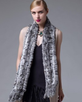 Chinchilla Fur Knitted Shawl
