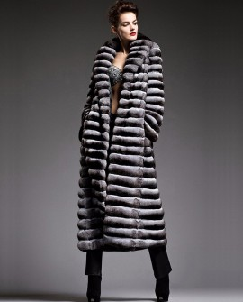 Chinchilla Fur Long Coat 161a