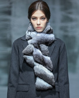 Chinchilla Fur Scarf 262a