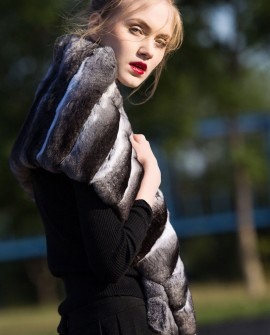 Chinchilla Fur Shawl, Cape Stole