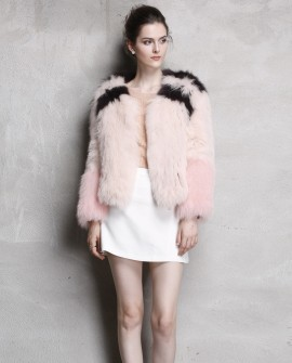 Cropped Fox Fur Knitted Jacket 790a