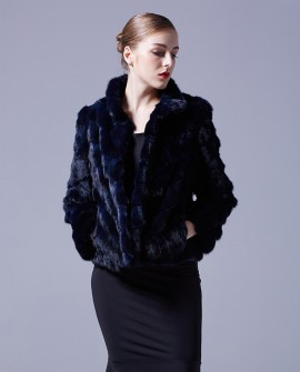 Cropped Sable Fur Jacket