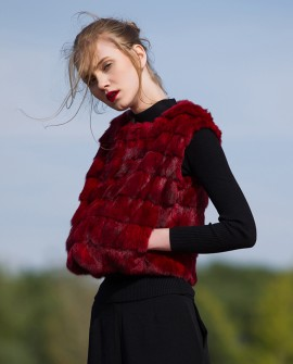 Cropped Sable Fur Vest 053a