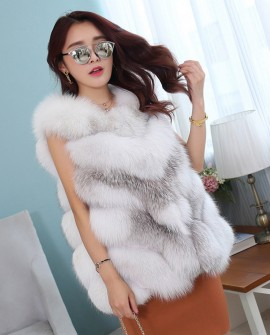 Cross Fox Fur Vest