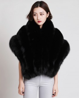 Fox Fur Cape 881 Black 1